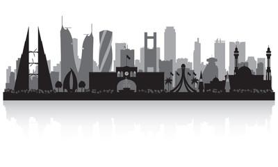 Manama Bahrain  city skyline silhouette