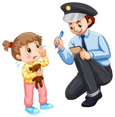 Police recording lost child
