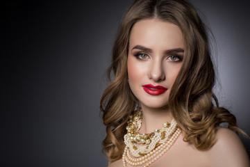 Beauty face, make-up