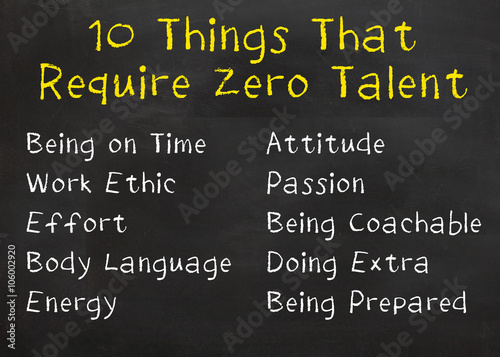 quot 10 things that require zero talent quot stock photo and