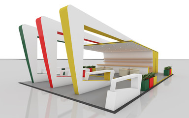 Colorful Exhibition Stand