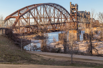 Clinton Presidential Park Bridge in Little Rock,  Arkansas