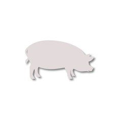 Silhouette of pig icon