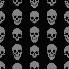 Vector texture pattern with skulls eps 10