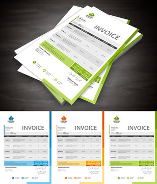 This is simple and creative invoice. File contains text editable AI, EPS10, JPEG and free font link.