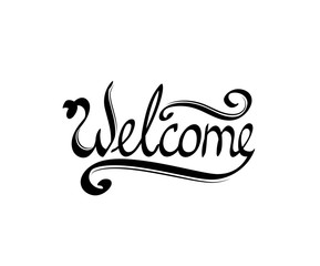 text welcome. a beautiful handwritten  template