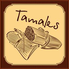 Tamales vector