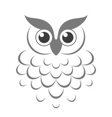 Owl. Abstract bird
