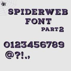 Dark spiderweb alphabet part 2. Halloween concept.