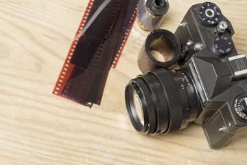 Vintage 35 mm film photo camera