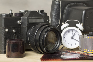 Time And Analog Camera