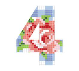 Cyfra 4, mozaika