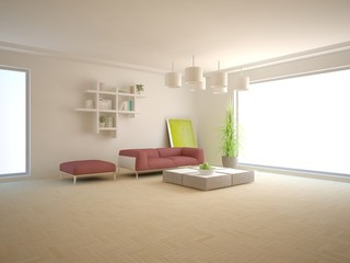 bright interior design for modern house
