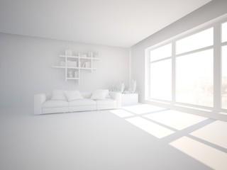 bright interior design for modern house