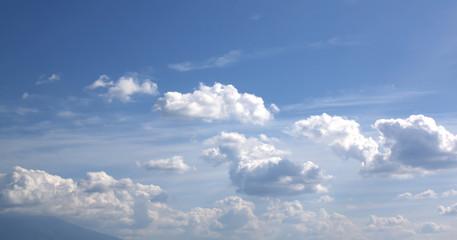 blue sky and clouds sky.