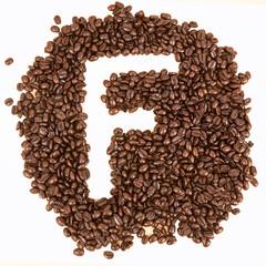 Coffee text , F alphabet