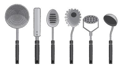 Vector kitchen utensils 2