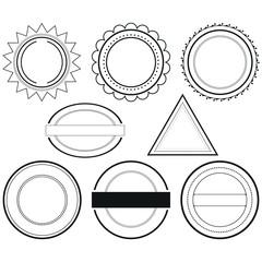 Set of design elements badges and labels