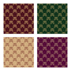 Set of four seamless pattern