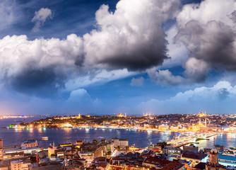 Sunset over Istanbul, Turkey