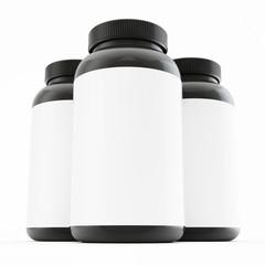 Bottle mock up on white background