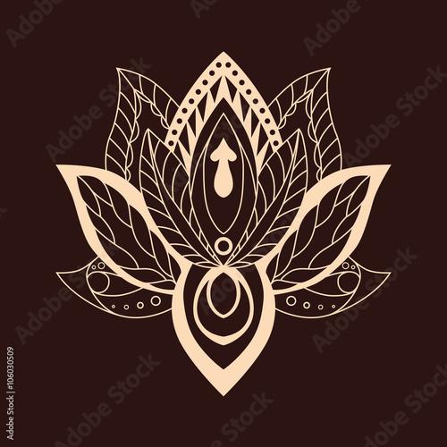 Lotus mandala vector ornamental lotus ethnic zentang ornamental lotus mandala vector ornamental lotus ethnic zentang ornamental boho style lotus flower mightylinksfo