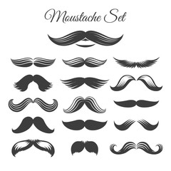 Mustaches icon set