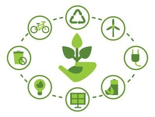 set of environmenta icons