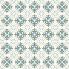 Retro Floor Tiles patern. Dutch tiles vector illustration.