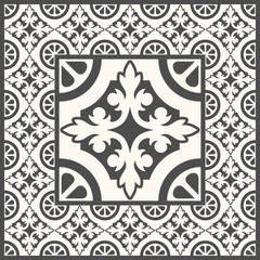Retro Floor Tiles patern. Vector Dutch tile illustration.