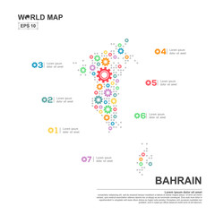 Map Of Bahrain Infographic design template with gear chain