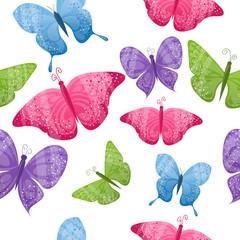 Seamless butterflies background