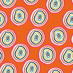 Vector seamless pattern with doodle circles - 106036353
