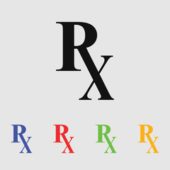 Rx pharmacy medicine icon