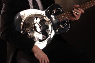 Gitarre aus Metall Dobro