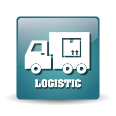 Logistic and truck icon design