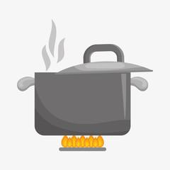 menu and saucepan design