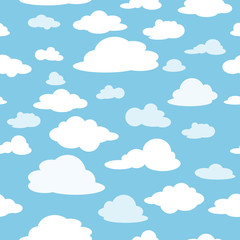 Clouds against the blue sky. Seamless pattern