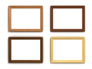 set of multicolored wooden horizontal frames of different sizes