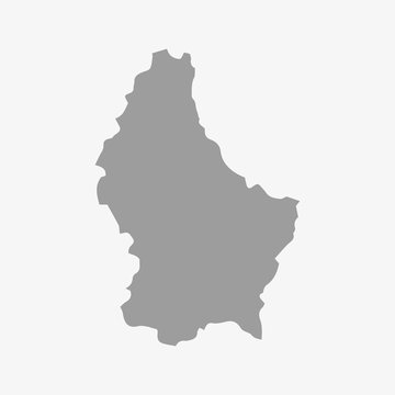 Luxembourg map in gray on a white background