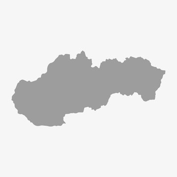 Slovakia map in gray on a white background