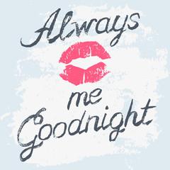 Romantic typography poster