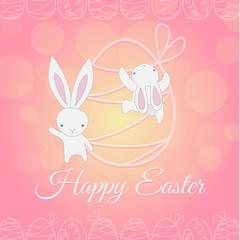 white Easter Bunny climber