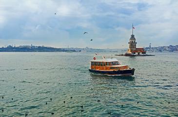 The pleasure boat on Bosphorus