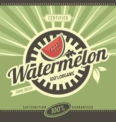 Watermelon retro ad concept
