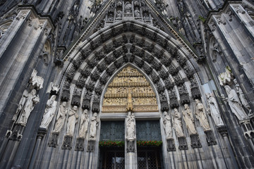 The main entrance of the Cologne Cathedral