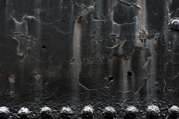 Steel background with rivets and copy space