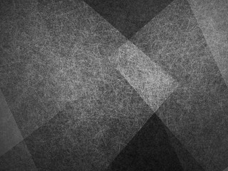 abstract background, layers of intersecting angles, rectangles and squares floating in random pattern, transparent with intricate texture, black background