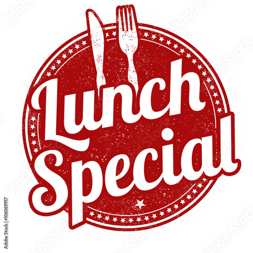 Lunch special stamp stock image and royalty free vector for Lunch specials