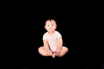かわいい赤ちゃん,黒背景